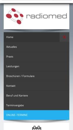 Vorschau der mobilen Webseite nuklearmedizin-hsk.de, Gemeinschaftspraxis für Nuklearmedizin
