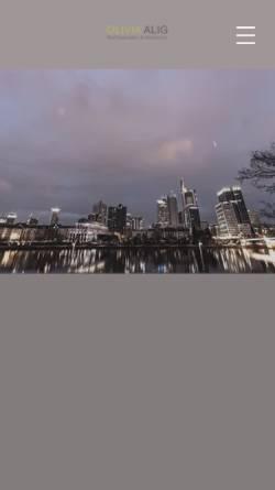 Vorschau der mobilen Webseite www.oliviaalig.de, Rechtsanwältin Olivia Alig, Frankfurt am Main