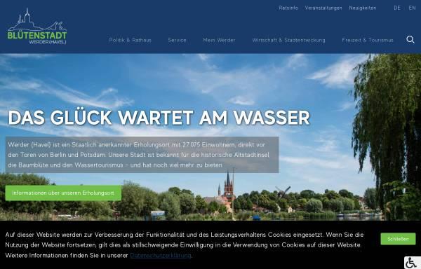 Vorschau von www.werder-havel.de, Werder (Havel)