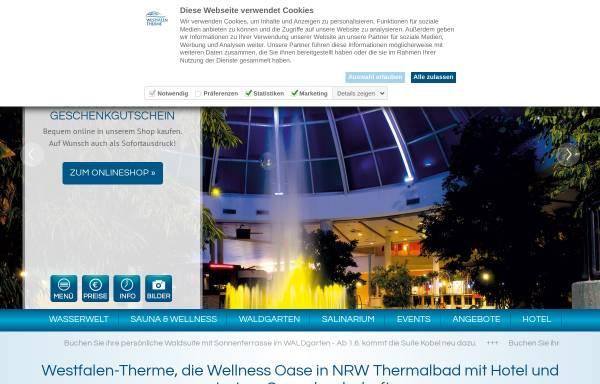 Vorschau von www.westfalen-therme.de, Westfalen-Therme Bad Lippspringe
