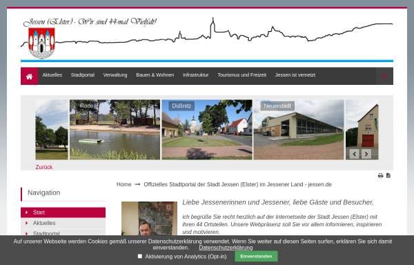 Vorschau von www.jessen.de, Stadt Jessen (Elster)