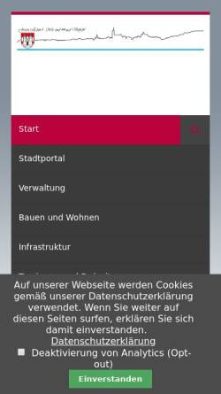 Vorschau der mobilen Webseite www.jessen.de, Stadt Jessen (Elster)