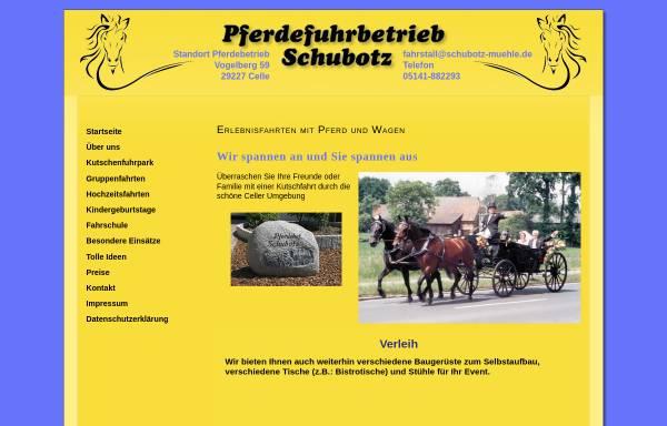 Vorschau von www.schubotz-muehle.de, Pferdefuhrbetrieb Schubotz