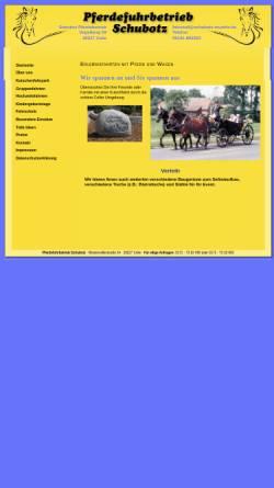 Vorschau der mobilen Webseite www.schubotz-muehle.de, Pferdefuhrbetrieb Schubotz