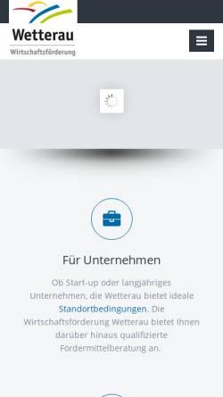 Vorschau der mobilen Webseite www.wfg-wetterau.de, Wirtschaftsförderung Wetterau GmbH