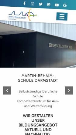 Vorschau der mobilen Webseite www.mbsonline.de, Martin-Behaim-Schule