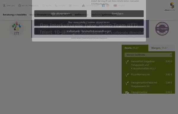Vorschau von www.studentenwerkdarmstadt.de, Studentenwerk Darmstadt