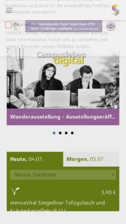 Vorschau der mobilen Webseite www.studentenwerkdarmstadt.de, Studentenwerk Darmstadt