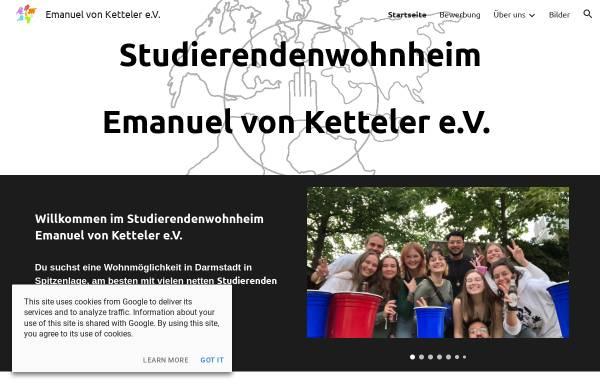 Vorschau von ketteler-wohnheim.de, Studentenwohnheim Emanuel von Ketteler e.V.