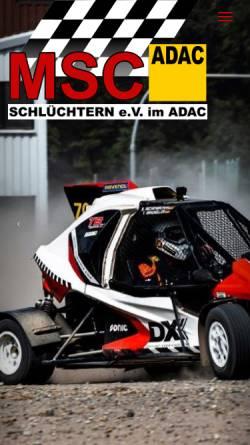 Vorschau der mobilen Webseite www.msc-schluechtern.de, MSC Schlüchtern e.V. im ADAC