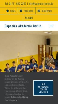 Vorschau der mobilen Webseite www.capoeira-berlin.de, Capoeira - Topazio in Berlin
