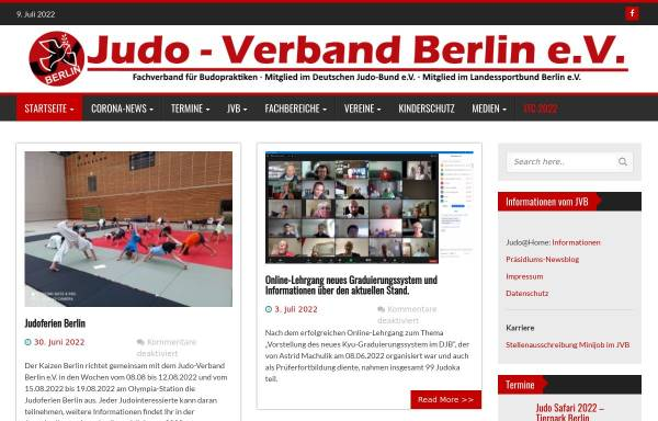 Vorschau von www.judo-verband-berlin.de, Judo-Verband Berlin e.V.