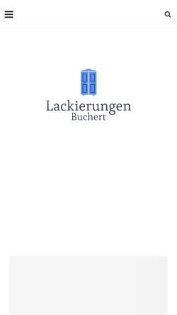 Vorschau der mobilen Webseite www.lackierungen-buchert.de, Lackierungen Buchert Pirna