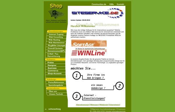 Vorschau von www.siteservice.de, SITEC Schröter Informationstechnik