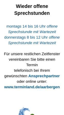Vorschau der mobilen Webseite www.aarbergen.de, Gemeinde Aarbergen