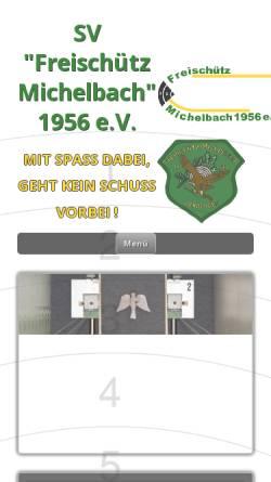 Vorschau der mobilen Webseite www.freischuetz-michelbach.de, Freischütz Michelbach 1956 e.V.