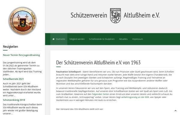Vorschau von www.ssv-altlussheim.de, Sportschützenverein Altlußheim e.V.