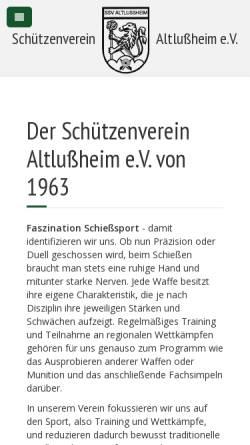 Vorschau der mobilen Webseite www.ssv-altlussheim.de, Sportschützenverein Altlußheim e.V.