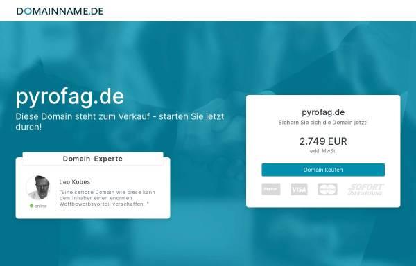 Vorschau von pyrofag.de, PYROFAG - Ein Unternehmen mit 100jähriger Traditon
