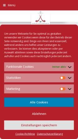 Vorschau der mobilen Webseite www.golf-eisenach.de, Golfclub Eisenach im Wartburgkreis e.V.