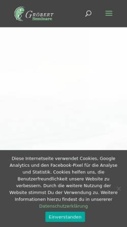 Vorschau der mobilen Webseite www.groebert-seminare.de, Gröbert Seminare - Institut für BewusstSein & Gestaltung