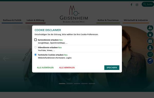 Vorschau von www.geisenheim.de, Stadt Geisenheim