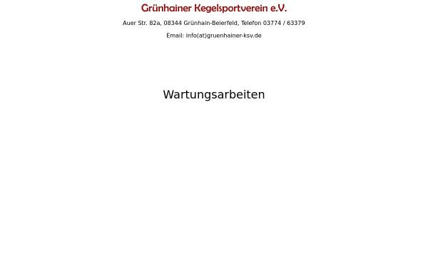 Vorschau von gruenhainer-ksv.de, Grünhainer Kegelsportverein e.V.