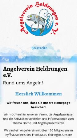 Vorschau der mobilen Webseite angelverein-heldrungen.de, Angelverein Heldrungen