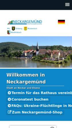 Vorschau der mobilen Webseite www.neckargemuend.de, Stadt Neckargemünd