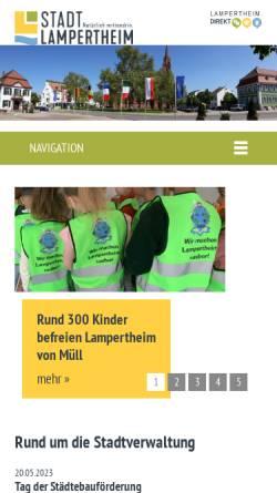 Vorschau der mobilen Webseite www.lampertheim.de, Stadt Lampertheim