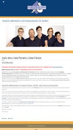 Vorschau der mobilen Webseite www.doktor-seeber.de, Dr. Seeber