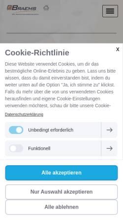 Vorschau der mobilen Webseite www.braems.de, Braems Lohnbetrieb GmbH