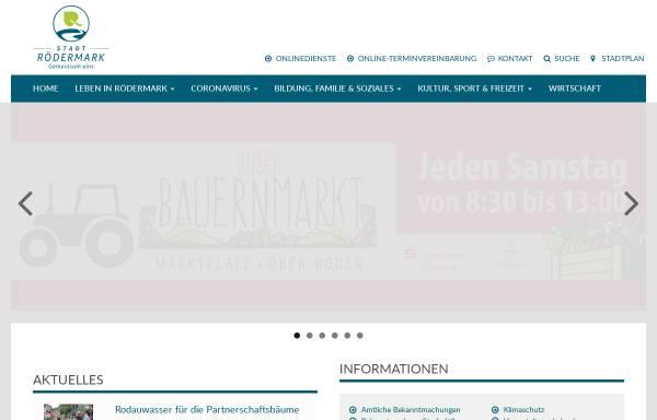 Vorschau von www.roedermark.de, Stadt Rödermark
