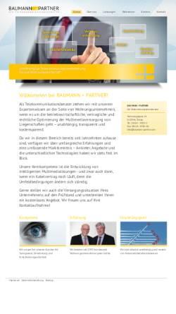 Vorschau der mobilen Webseite www.baumann-partner.com, Beratungssozietät Baumann + Partner
