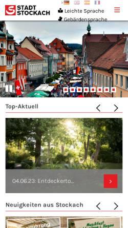 Vorschau der mobilen Webseite www.stockach.de, Stadt Stockach