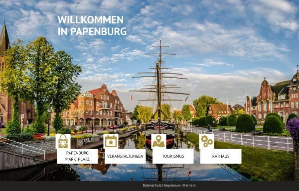 Vorschau von www.papenburg.de, Stadt Papenburg