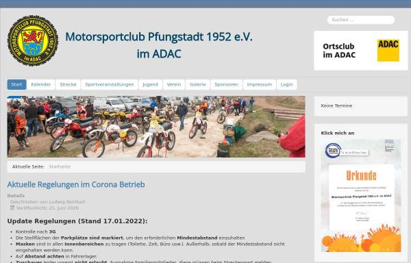Vorschau von www.mc-pfungstadt.de, MSC Pfungstadt 1952 e.V. im ADAC