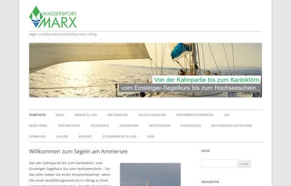 Vorschau von www.segelschulemarx.de, Segelschule Marx