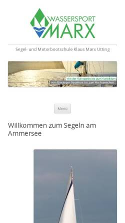 Vorschau der mobilen Webseite www.segelschulemarx.de, Segelschule Marx