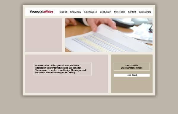 Vorschau von www.financialaffairs.net, FinancialAffairs, Inh. Rosemarie Kalus