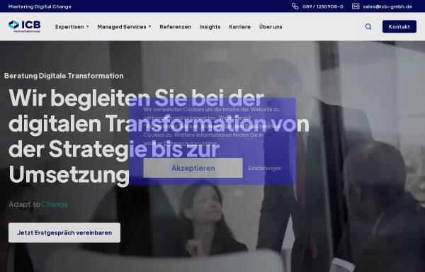 Vorschau von www.icb-gmbh.de, ICB Internet Consulting for Business GmbH