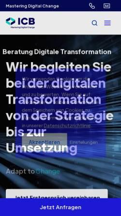 Vorschau der mobilen Webseite www.icb-gmbh.de, ICB Internet Consulting for Business GmbH