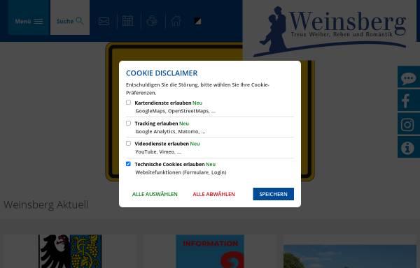 Vorschau von www.weinsberg.de, Stadt Weinsberg