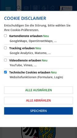 Vorschau der mobilen Webseite www.weinsberg.de, Stadt Weinsberg