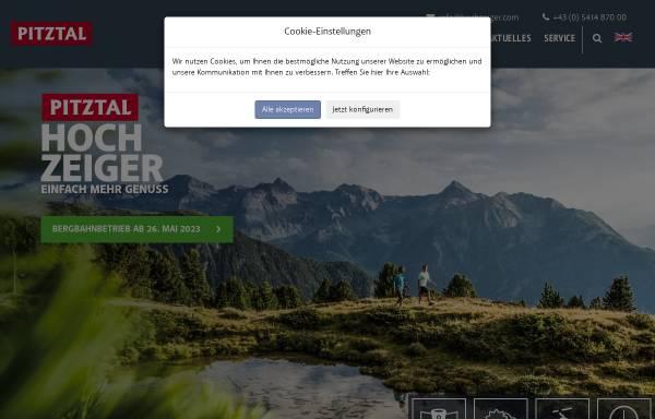 Vorschau von www.hochzeiger.com, Bergbahnen Hochzeiger