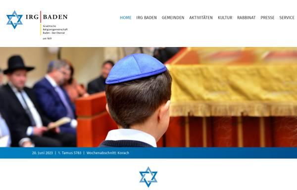 Vorschau von www.irg-baden.de, Israelitische Religionsgemeinschaft Baden