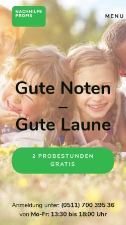Vorschau der mobilen Webseite www.nachhilfeprofis-hannover.de, Nachhilfe Profis