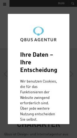 Vorschau der mobilen Webseite www.qbus.de, Qbus Internetagentur GmbH