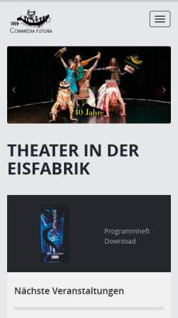 Vorschau der mobilen Webseite www.commedia-futura.de, Commedia Futura