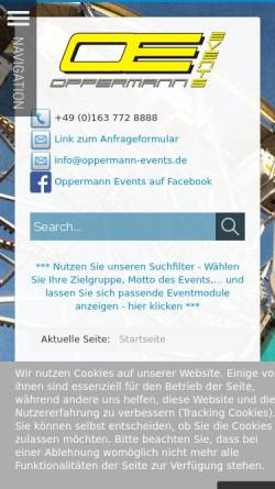 Vorschau der mobilen Webseite www.oppermann-events.de, Oppermann Events